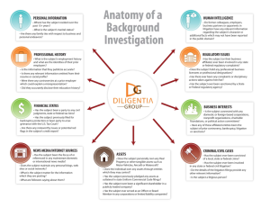 Infographic background investigation